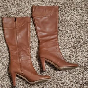 Banana Republic brown leather boots.